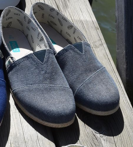 Women's canvas shoes blue-grey