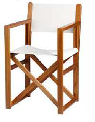 Menorca teak chair white