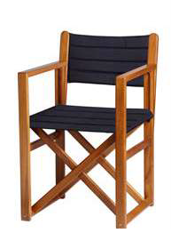 Menorcan teak chair blue