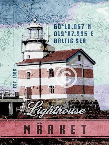 Märket lighthouse poster