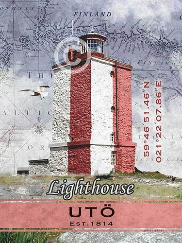 Utö Lighthouse Poster