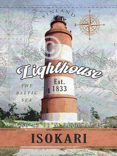 Isokari Lighthouse Poster