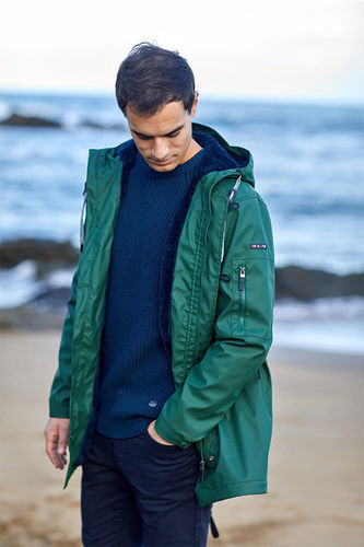 Men's raincoat with warm lining