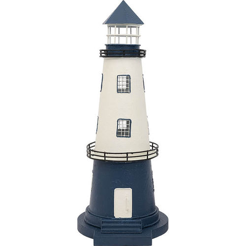 Lighthouse white/blue 40 cm