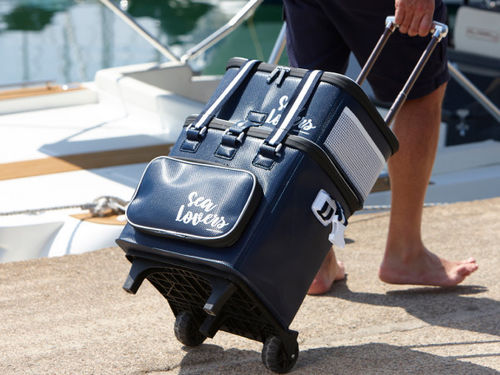 Sea Lovers Cooler bag 45L +  6 people tableware + trolley