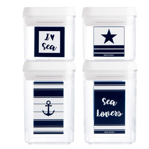 Sea Lovers Canister Set, 4 pcs
