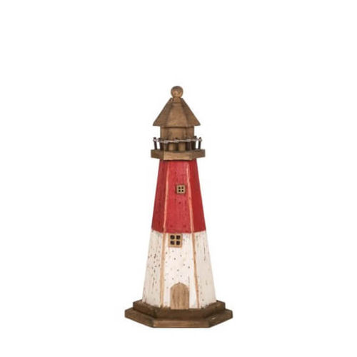 Wooden lighthouse, height 27cm