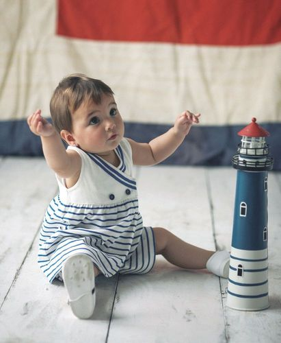 Baby crossed navy dress