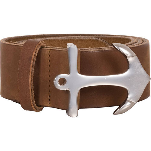 Belt in leather with anchor