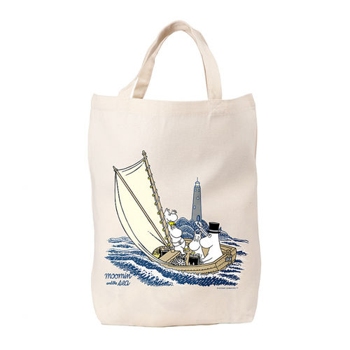 Moomin and the lighthouse tote bag