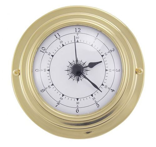 Small brass clock