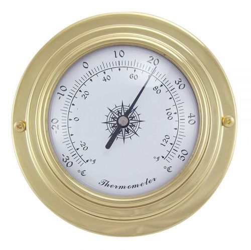 Small brass thermometer