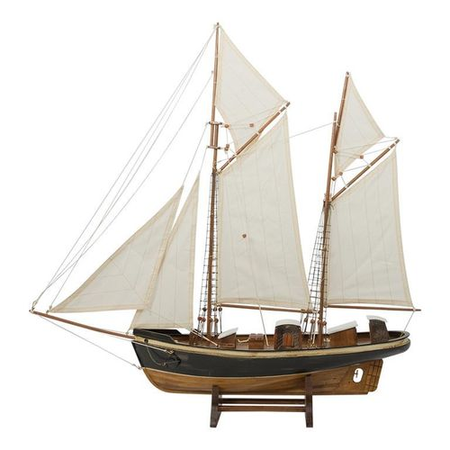 Sailing ship 2 masts, Length 78cm, height 76cm
