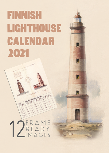 Calendar: Finnish lighthouses 2021