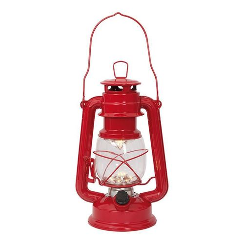 Led lantern - red - L:16cm H:24,5cm
