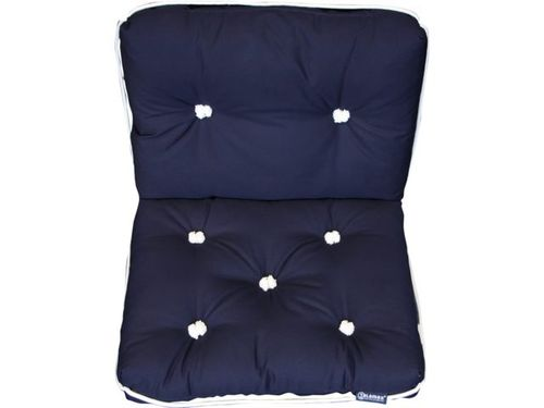 Kapok cushion, double, blue, 70 x 46cm