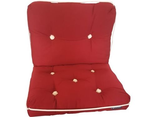 Kapok cushion, double, burgundy, 70 x 46cm
