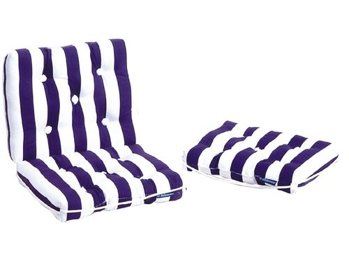 Cushion kapok striped, double, 70 x 46cm