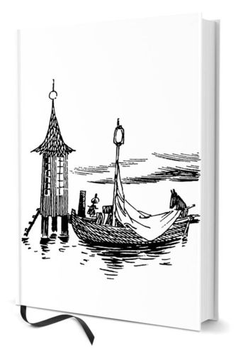Notebook A5 Moomin boat and swimhouse
